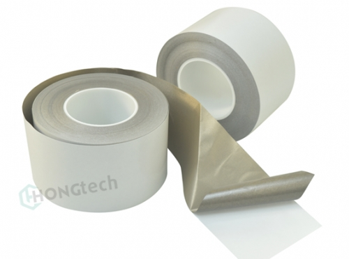 Single sided smooth electrically conductive fabric adhesive tape - D24140